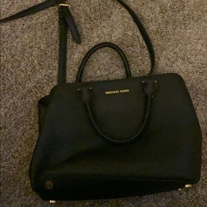 Michael Kors authentic leather black bag